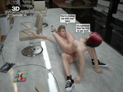Two boys rape a woman at haircut- 3DStories - part 3