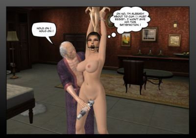 Lara Croft in the hands of the old pervert - part 3