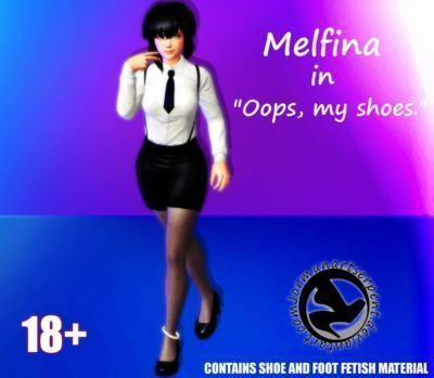 "Melfina in ""Oops- my shoes.\"" by Jormun"