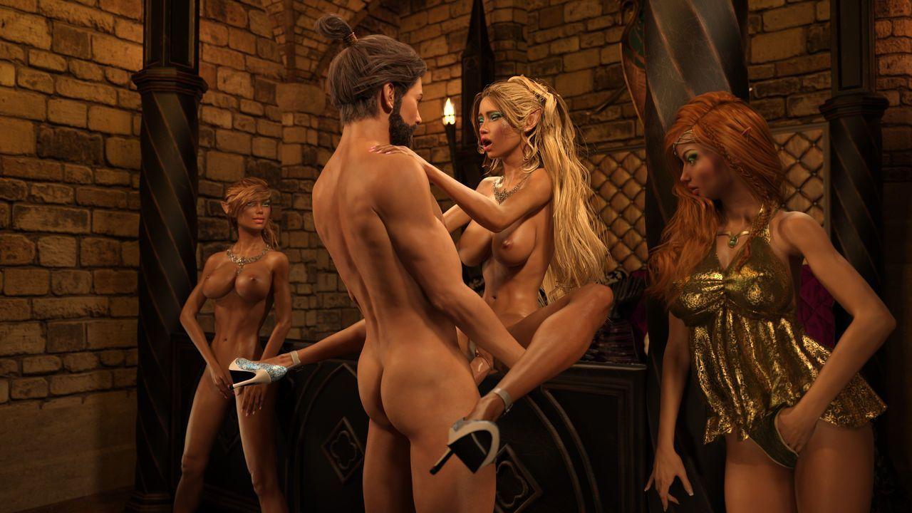 Gator3D – Fairy Tales – Elven Schoolgirls - part 6