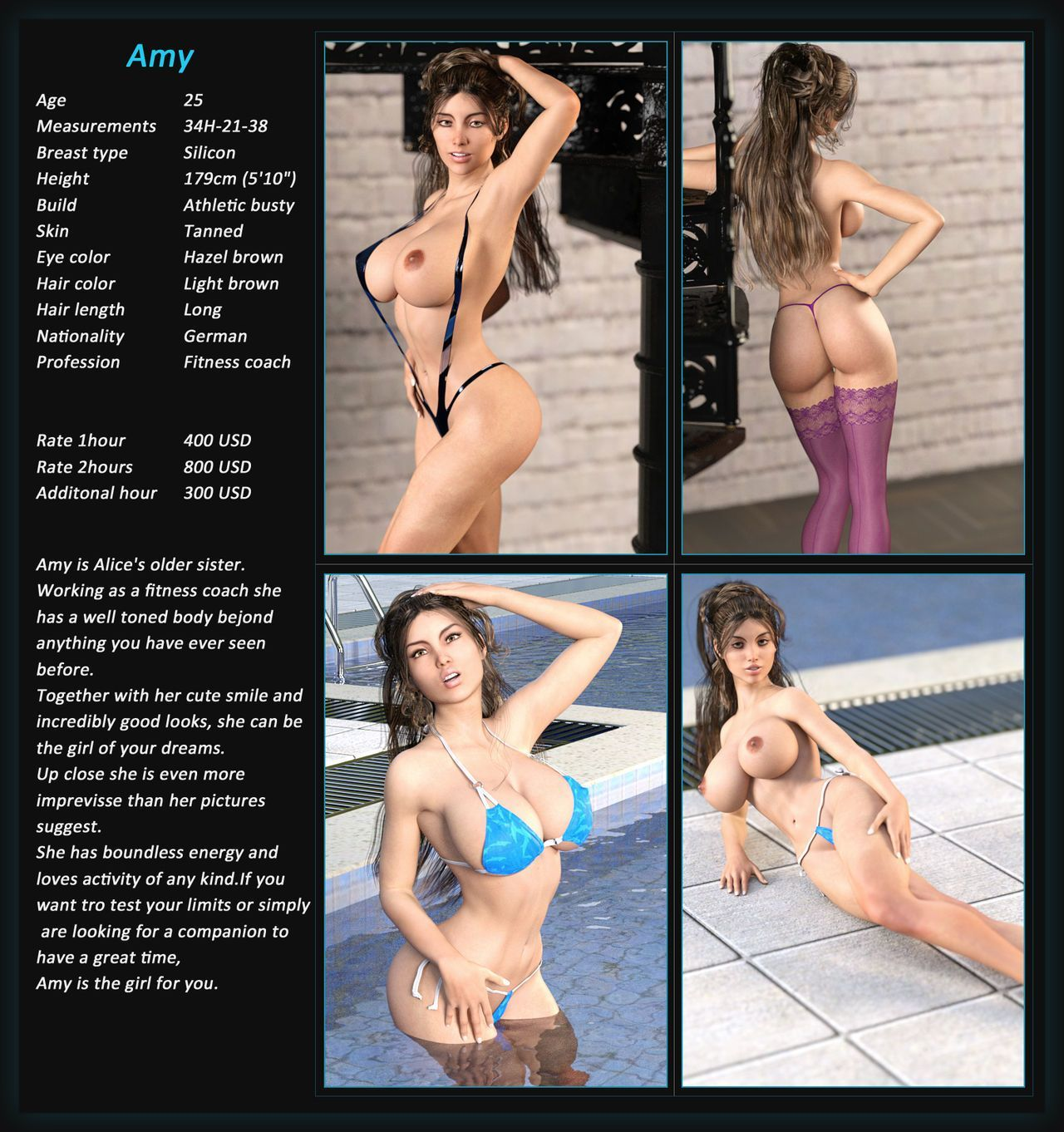 Busty 3D Escorts