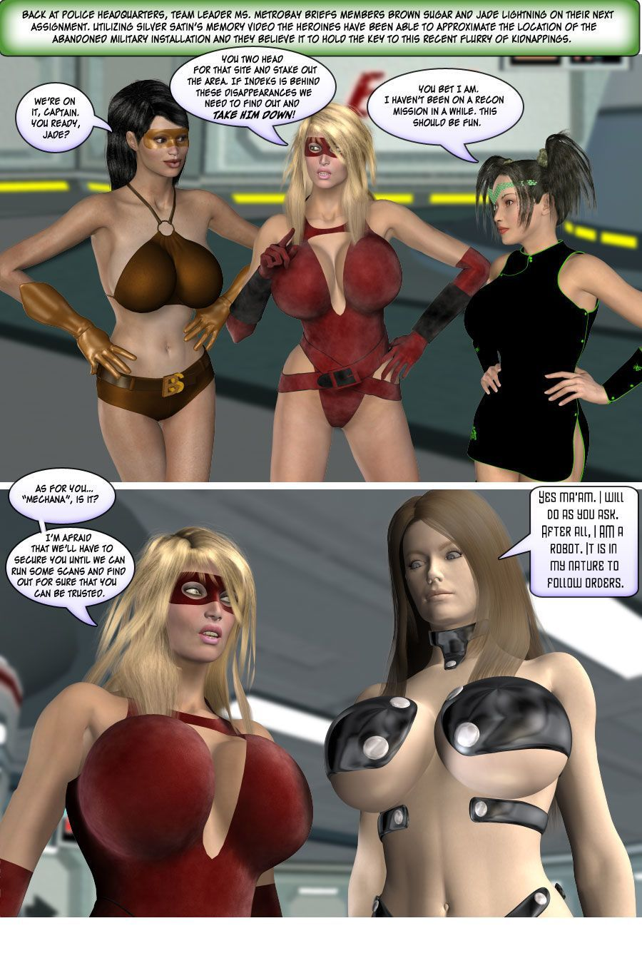 [Finister Foul] Superheroine Squad 1 - 23 - part 5