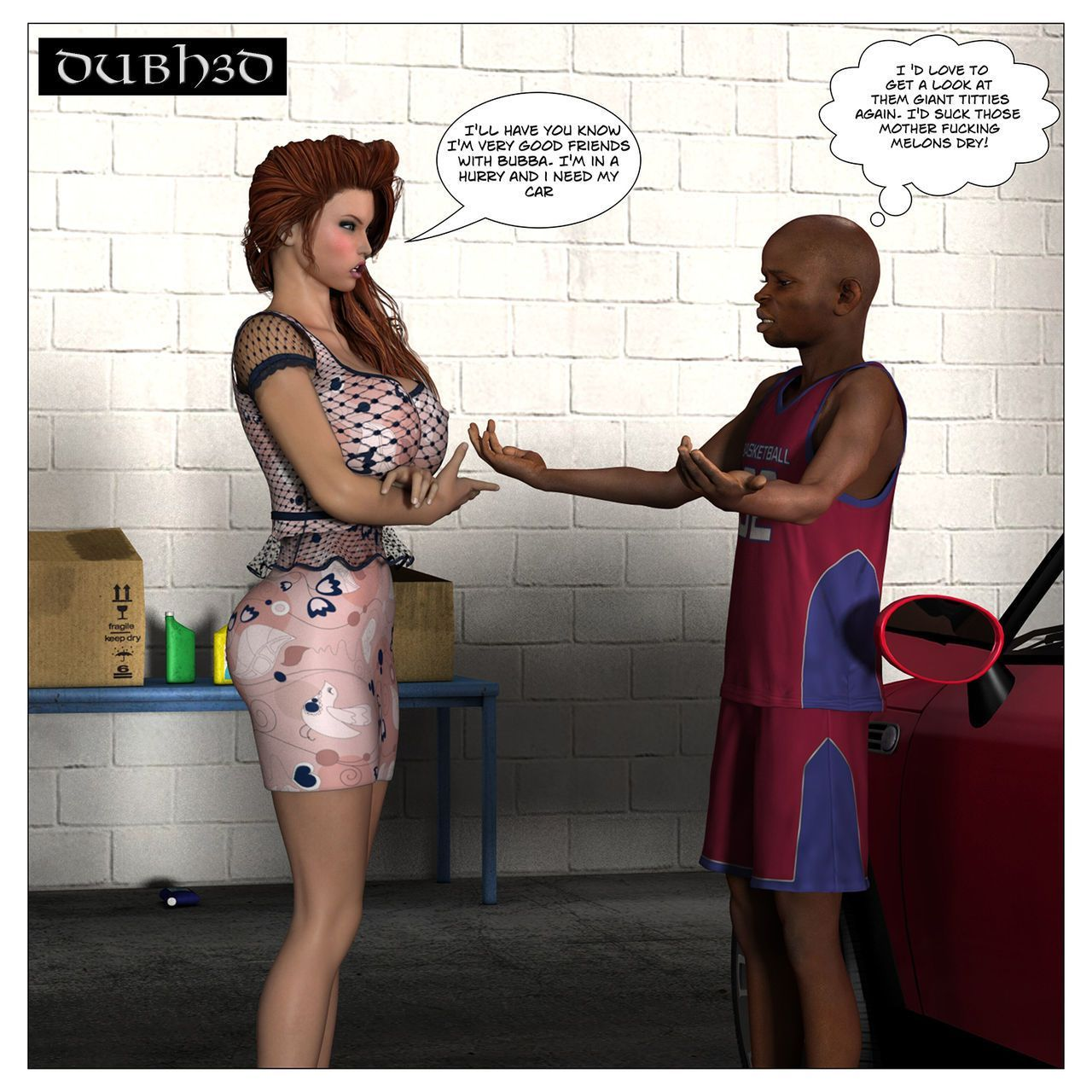 Dubh3d 3d porn RED: CAR TROUBLE Chapter 2 - The Pickup