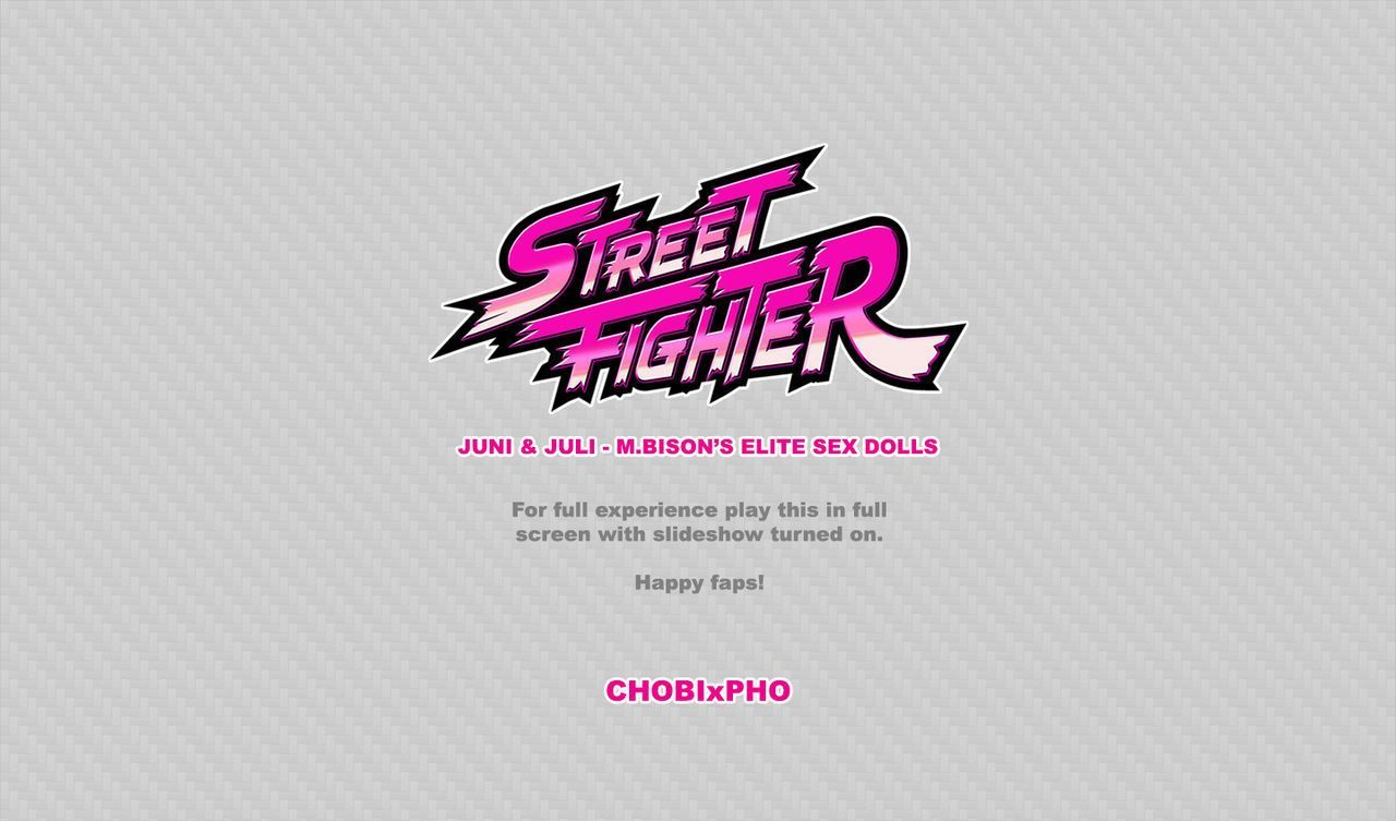 STREET FIGHTER / JUNI AND JULI - M.BISON\'S ELITE SEX DOLLS [CHOBIxPHO]