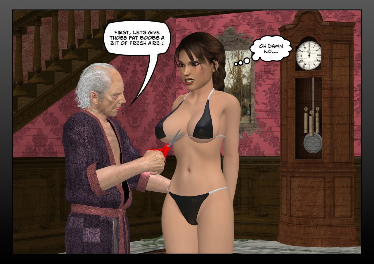 Lara Croft in the hands of the old pervert