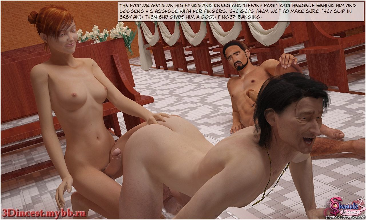 [Shemale3DComics] Church Threesome - part 2