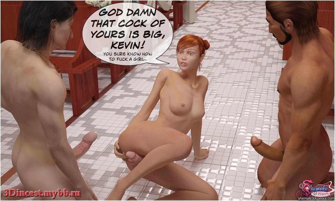 [Shemale3DComics] Church Threesome - part 3