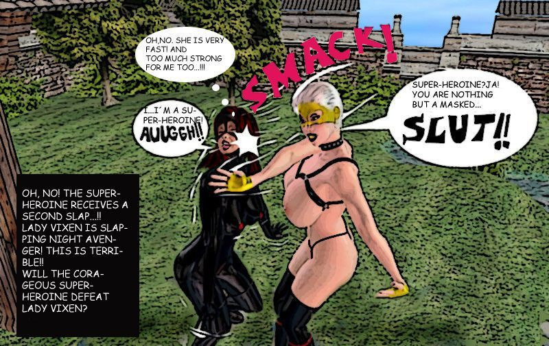 Superheroine Night Avenger vs Lady Vixen