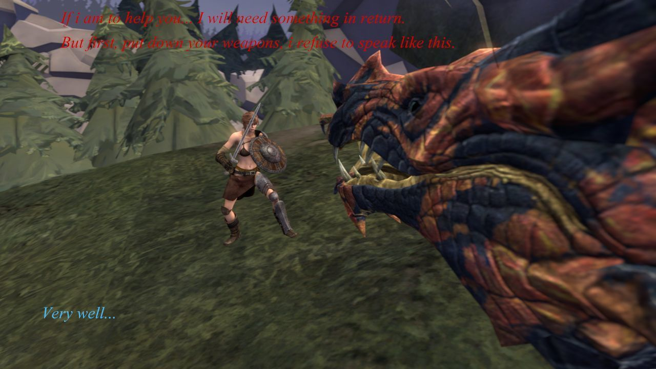 [3D] To get help from a dragon...