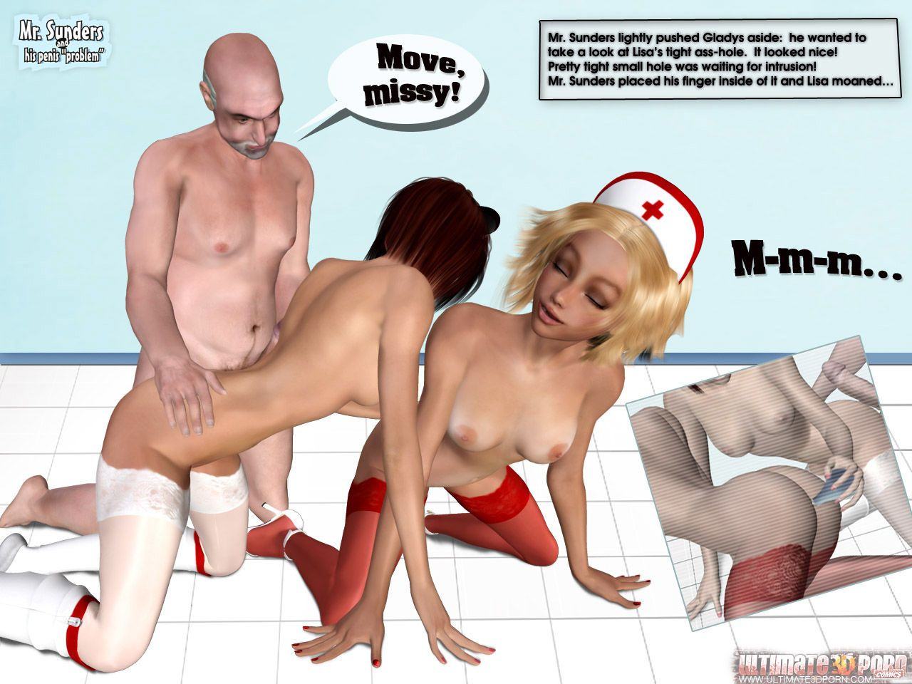 Mr. Sunders and His Penis Problem. Part 2 - part 2