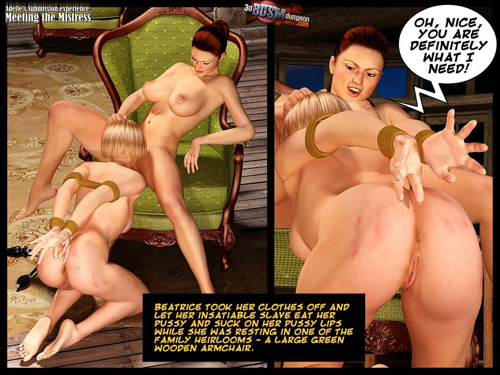 [3D BDSM Dungeon] Adelle\'s Submission experience: Meeting the Mistress - part 2