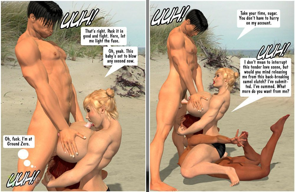 [Entropy] Megan & Denise-Catfight at the Beach