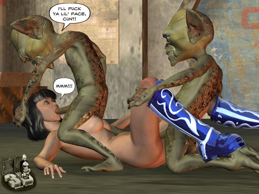 3d Tentacles and Alien Rape - part 2