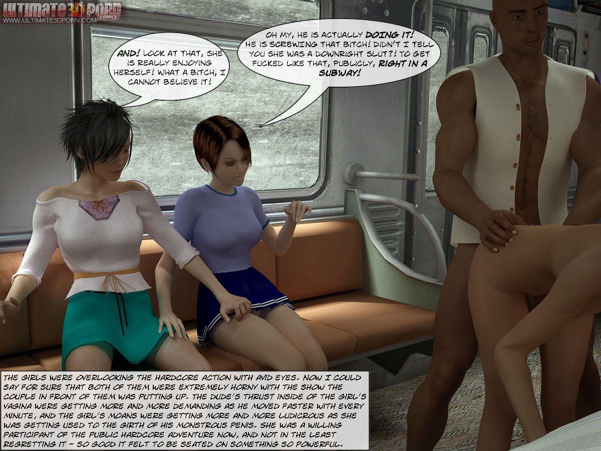 [3D] Sex in Subway - part 2
