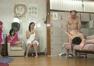Asian bitches are getting fucked in a hot spa - 8 min HD