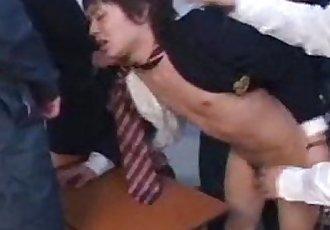 Asian school boy forced