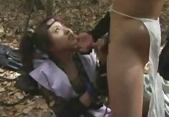 Japanese ninja girl gets fucked - 8 min