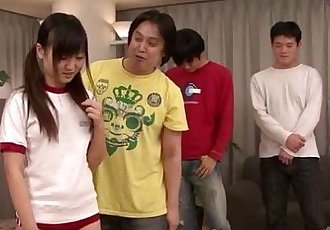 Asian Ryo Asaka sure loves fucking in group - 12 min