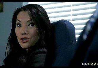 Office assistant Asa Akira shows her boss her flexibility - 7 min HD