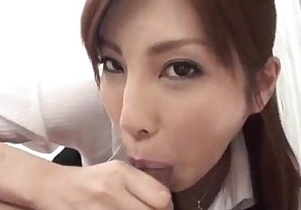 Cock sucking Kana Miura craves to ride on the cock - 12 min