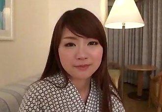 Mayuka Akimoto lingerie girl blows cock in POV - 12 min