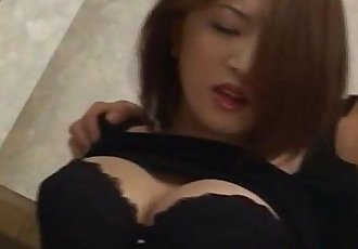 Yuki Touma with big boobs has crack fucked after licking dicks - 10 min