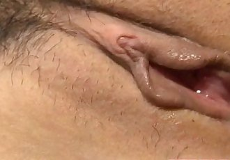 Busty Japanese fucked by two horny males - 8 min