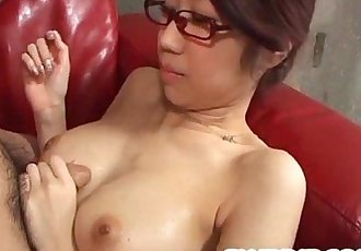 Fuuka Takanashi shows off sucking cock like a goddess - 8 min