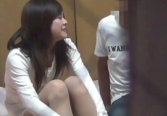Japanese teen sucks cock - 8 min