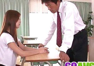 Steamy fuck at school with insolent Nozomi Nishiyama - 8 min