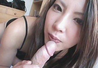 Saya Shows Her Blowjob Skills As She Sucks Him Dry - 8 min