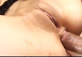 Megumi has her shaved pussy and ass fingered - 7 min