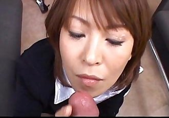 Horny teacher sucks a cock in her private office - 7 min