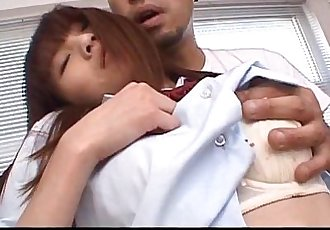 Slutty Asian schoolgirl gets rubbed and fucked - 7 min