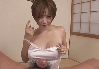 Sultry MILF Meguru Kosaka Swallows Cum In POV - 8 min
