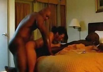 Asian Slut Having Sex With Two Black Guys - 8 min