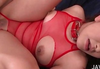 Asian peachy wet pussy fucked and gapped in close-up - 5 min