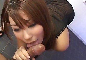 Adorable petite Asian Mimi Kousaka POV blowjob - 5 min