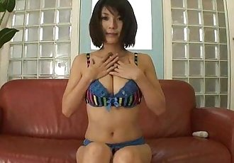 Big titty Azumi plays with her phat tits and puffy nipples - 5 min