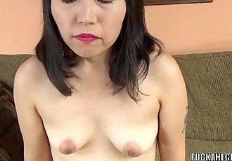 Asian slut Yuka Ozaki is on her knees and sucking dick - 6 min HD