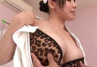 Miho Tsujii Asian nurse in need for cock in her pussy - 12 min
