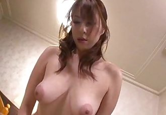 Araki Hitomi sensual woman plays dirty on a big cock - 12 min