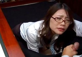Blowjob at work along naughty Japanese Ibuki - 10 min