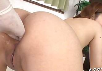 Banging and toying oriental babes anal - 5 min