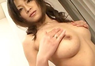 Sensual pussy solo along busty Ryo Sasaki - 12 min