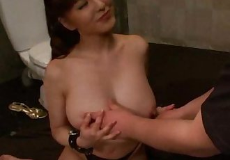 Big titted Yuki Tsukamoto jail blowjob - 17 min