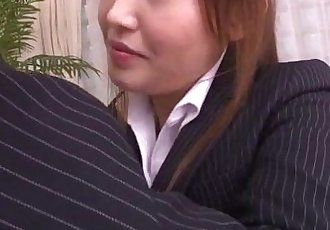 Mami Asakura office adventure with her boss - 12 min