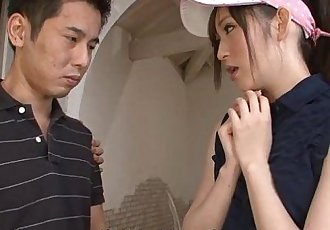 Golfing virging getting to bang a hot Asian slut - 59 sec