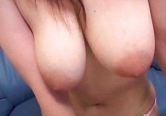 Hot busty asian brunette babe gets