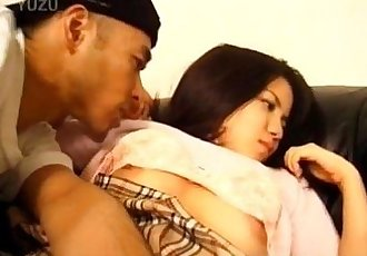 Japanese AV Model with big jugs has snatch licked and frigged - 10 min
